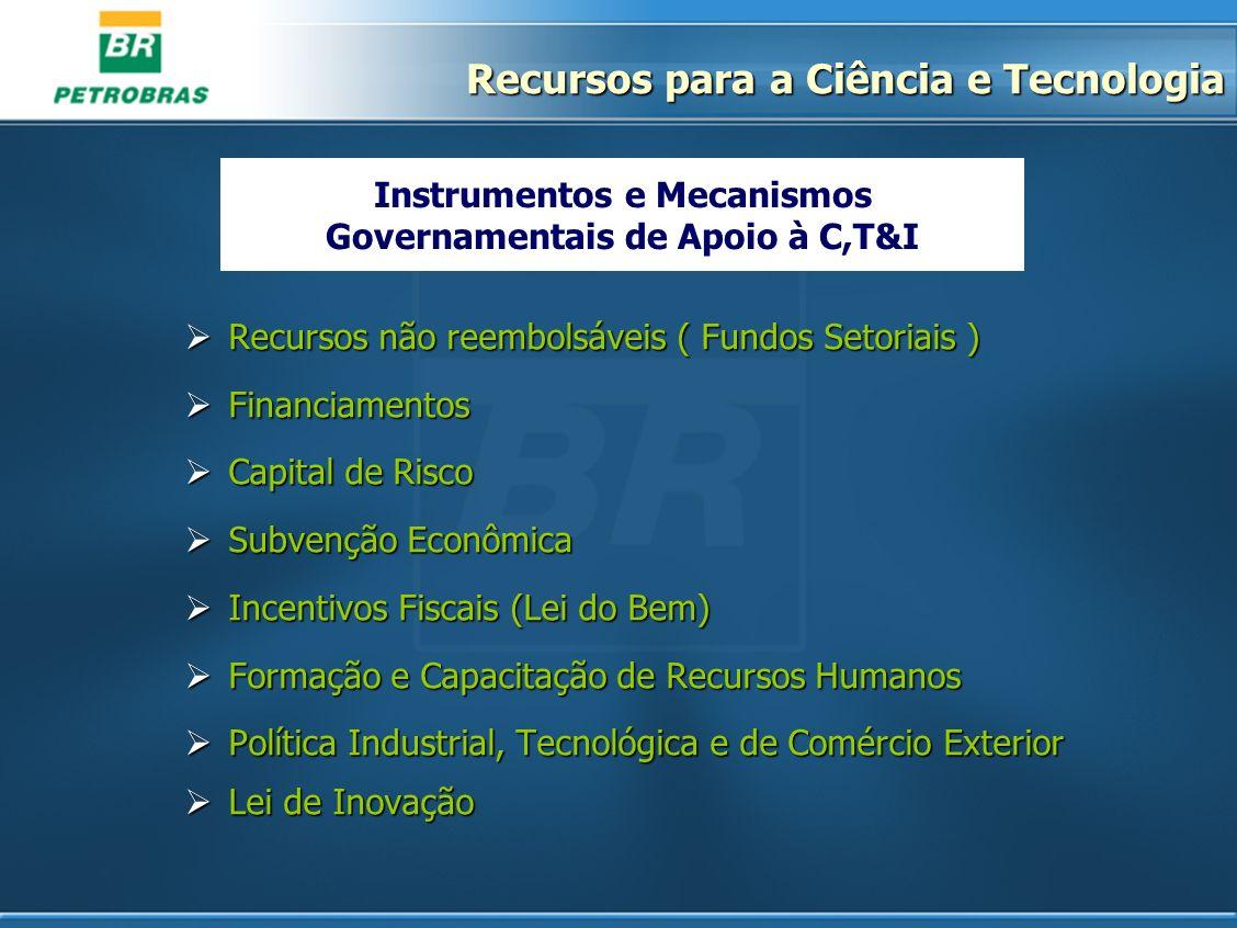 Instrumentos e Mecanismos Governamentais de Apoio à C,T&I