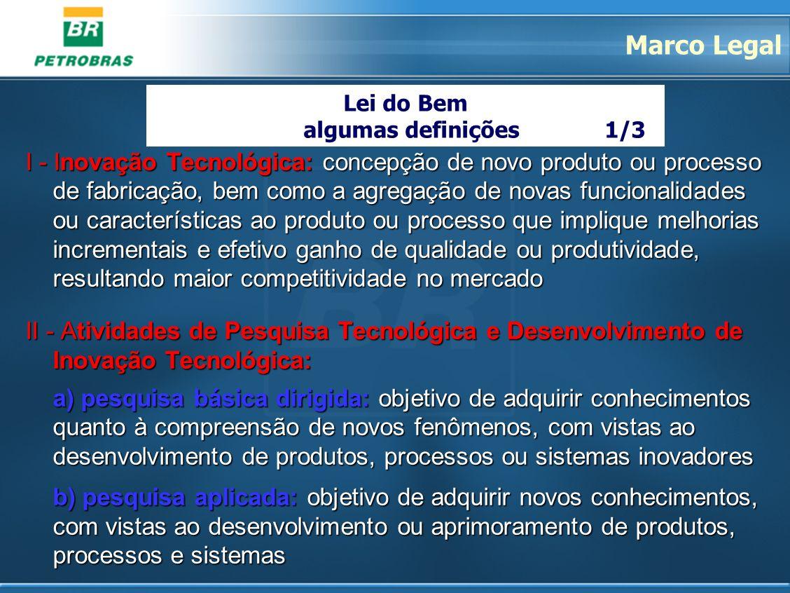 Marco Legal Lei do Bem. algumas definições 1/3.