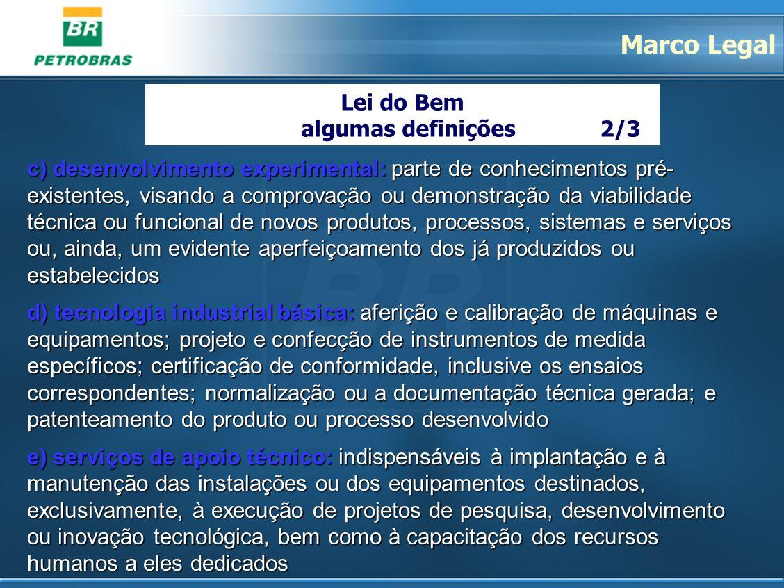 Marco Legal Lei do Bem algumas definições 2/3