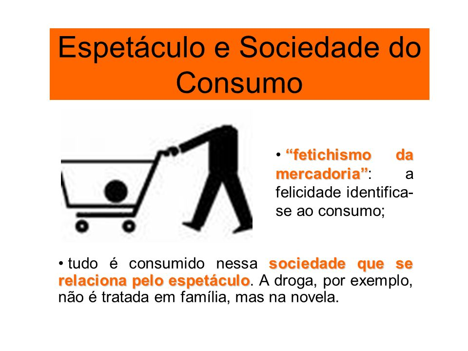 Espetáculo e Sociedade do Consumo