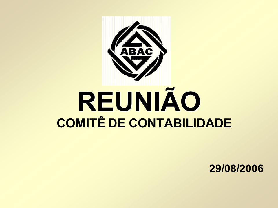 REUNIÃO COMITÊ DE CONTABILIDADE