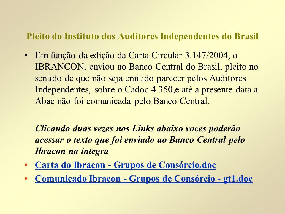 Pleito do Instituto dos Auditores Independentes do Brasil