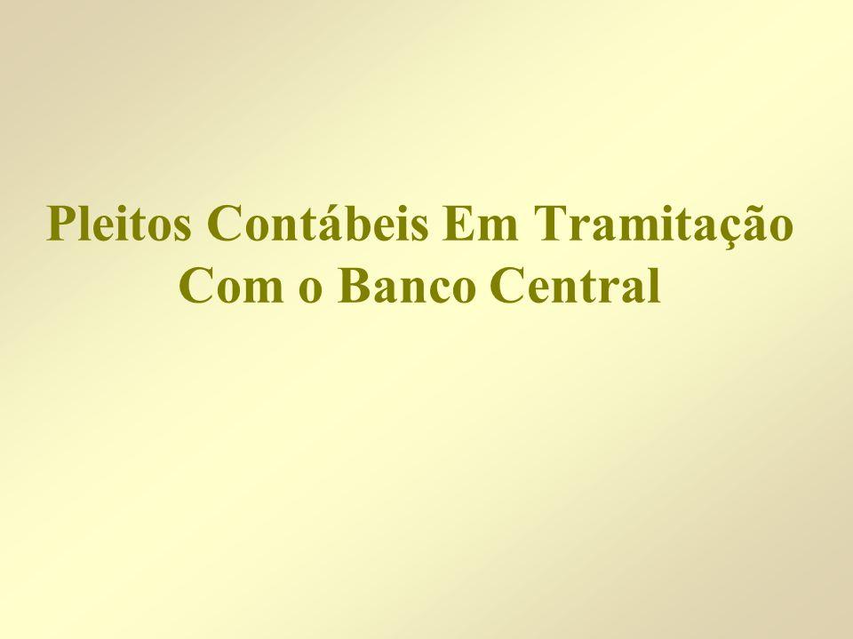 Pleitos Contábeis Em Tramitação Com o Banco Central