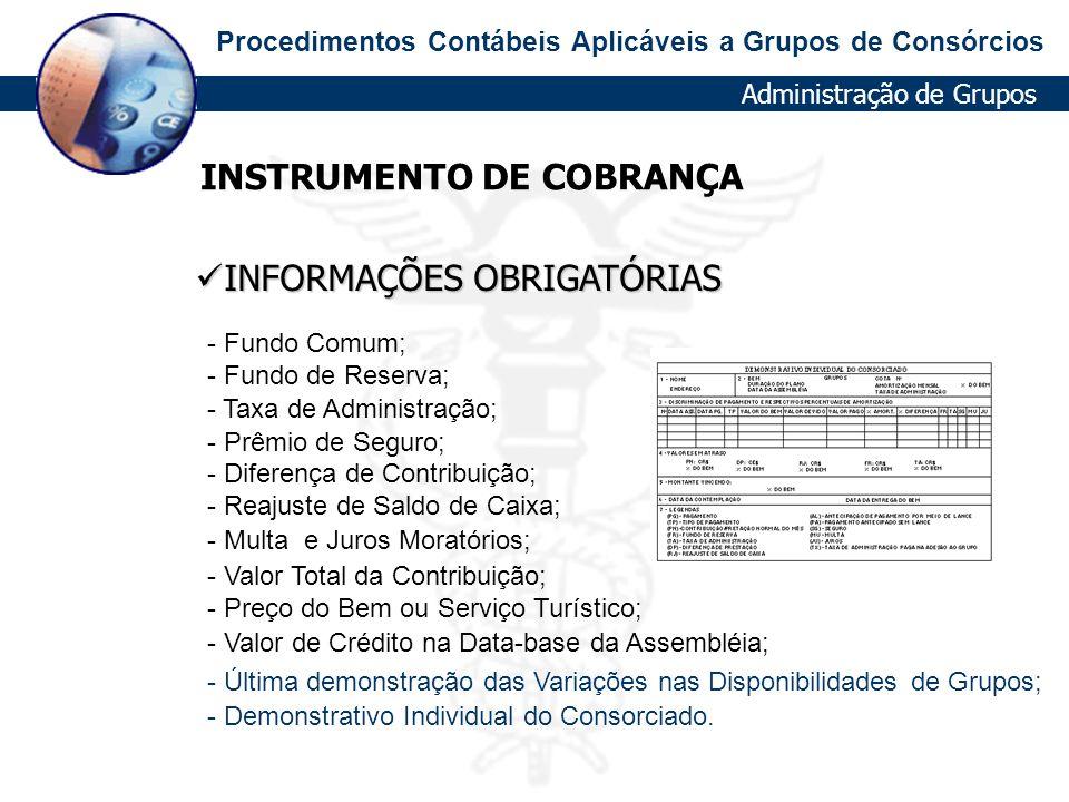 INSTRUMENTO DE COBRANÇA