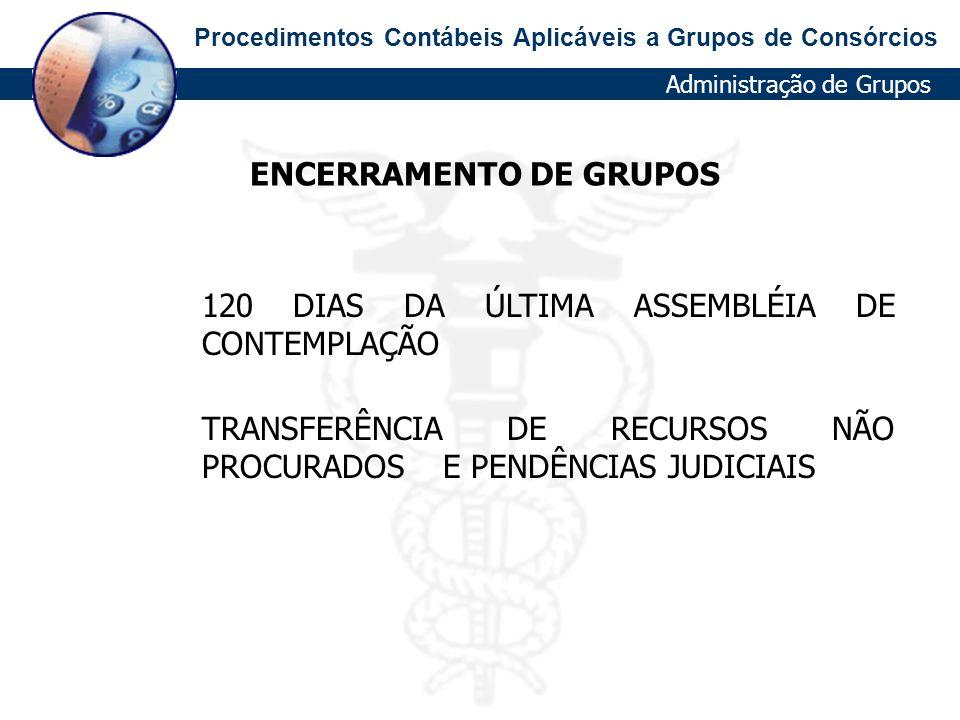 ENCERRAMENTO DE GRUPOS