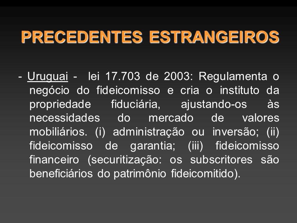 PRECEDENTES ESTRANGEIROS