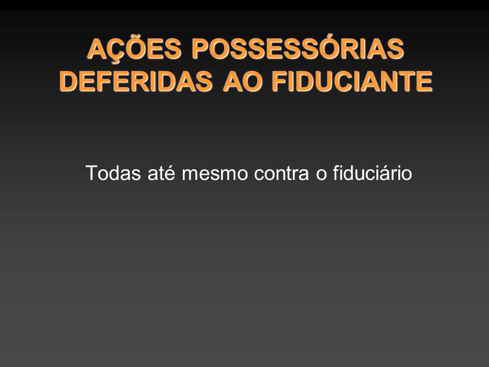 AÇÕES POSSESSÓRIAS DEFERIDAS AO FIDUCIANTE