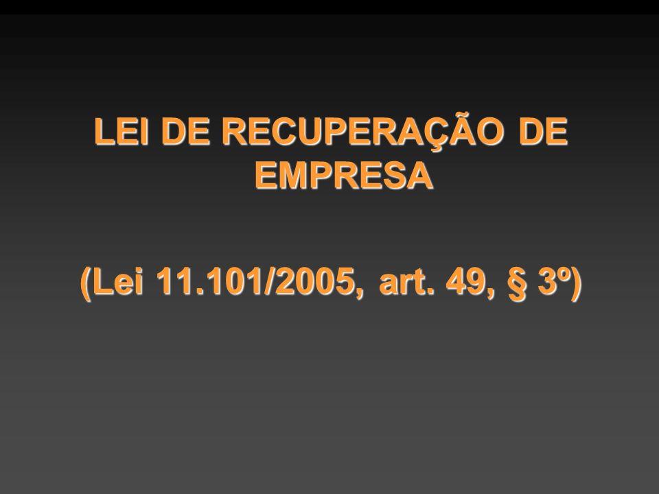 LEI DE RECUPERAÇÃO DE EMPRESA
