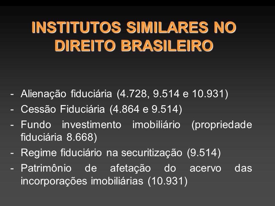 INSTITUTOS SIMILARES NO DIREITO BRASILEIRO