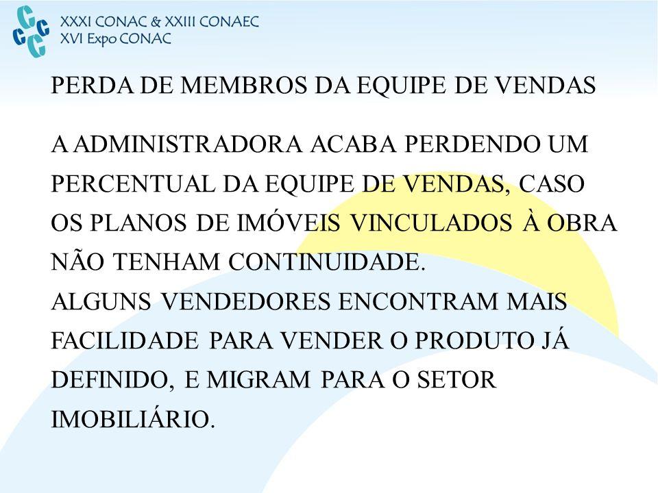 PERDA DE MEMBROS DA EQUIPE DE VENDAS