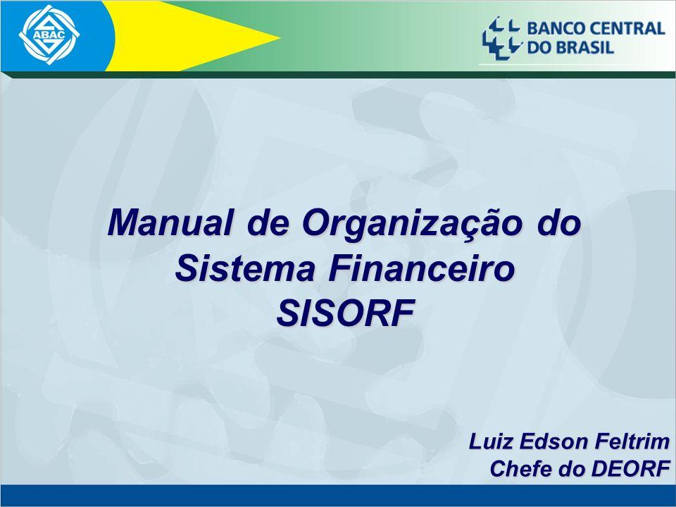 Manual de Organização do Sistema Financeiro SISORF
