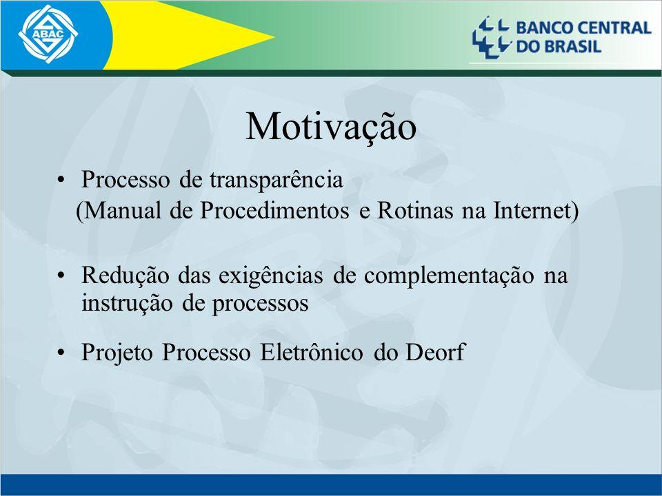 Motivação Processo de transparência