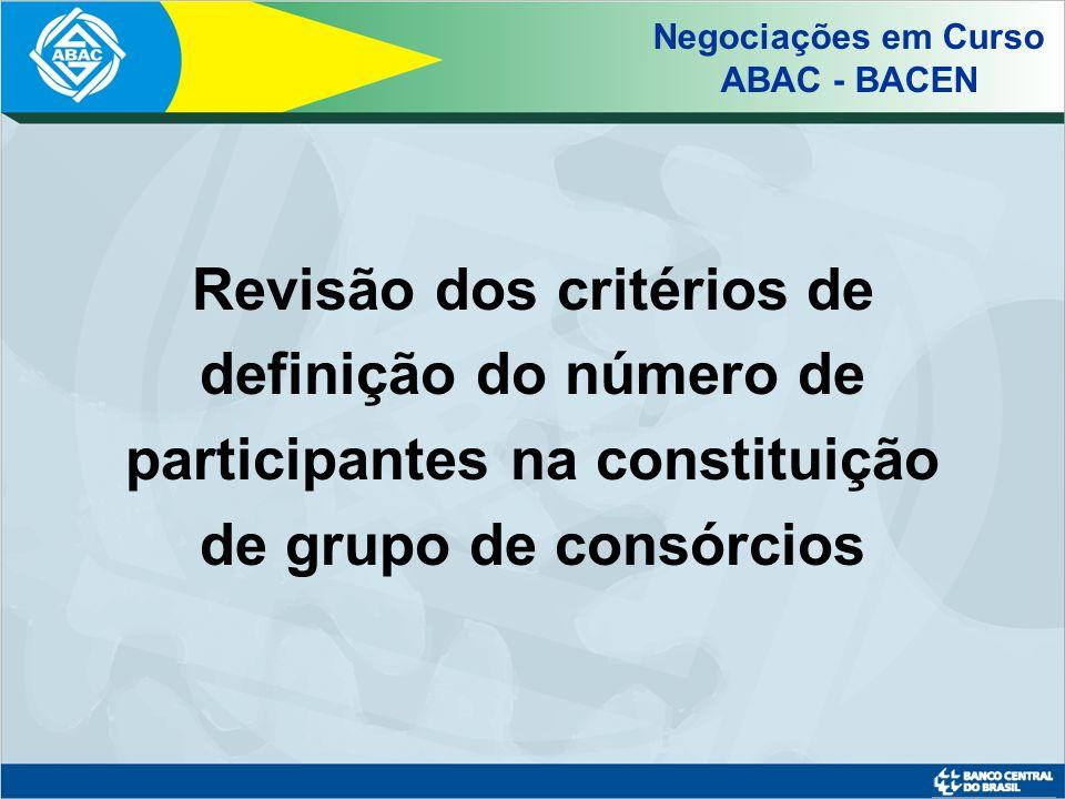 Negociações em Curso ABAC - BACEN.
