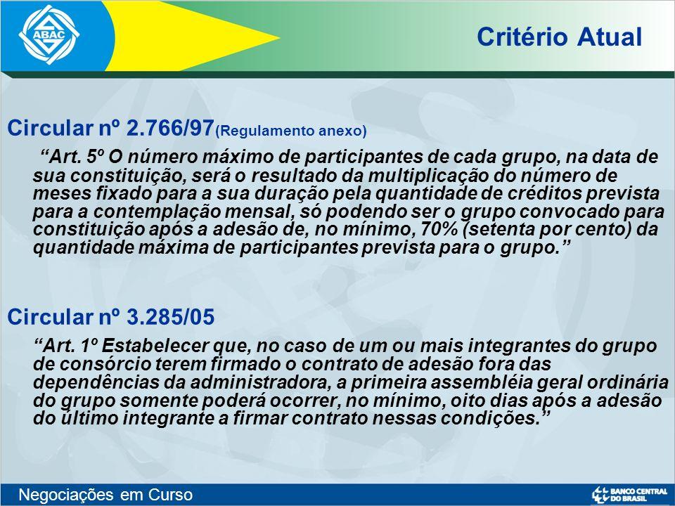Critério Atual Circular nº 2.766/97(Regulamento anexo)