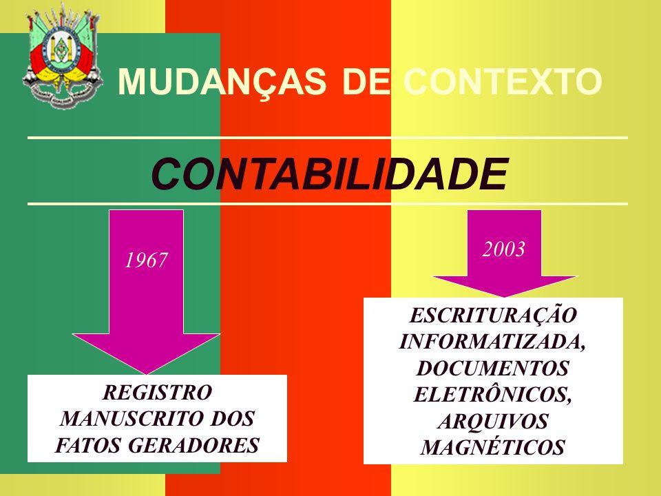 REGISTRO MANUSCRITO DOS FATOS GERADORES