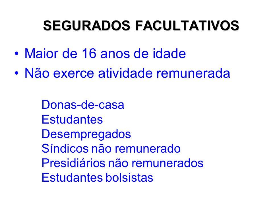 SEGURADOS FACULTATIVOS