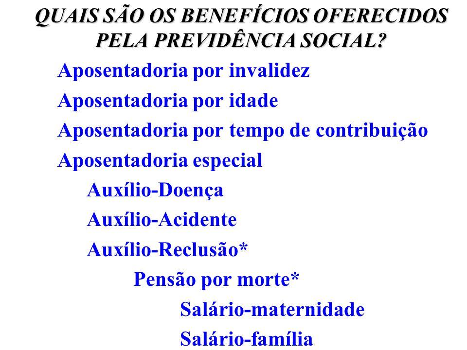QUAIS SÃO OS BENEFÍCIOS OFERECIDOS PELA PREVIDÊNCIA SOCIAL