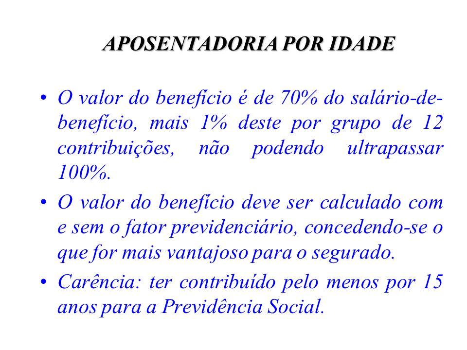 APOSENTADORIA POR IDADE