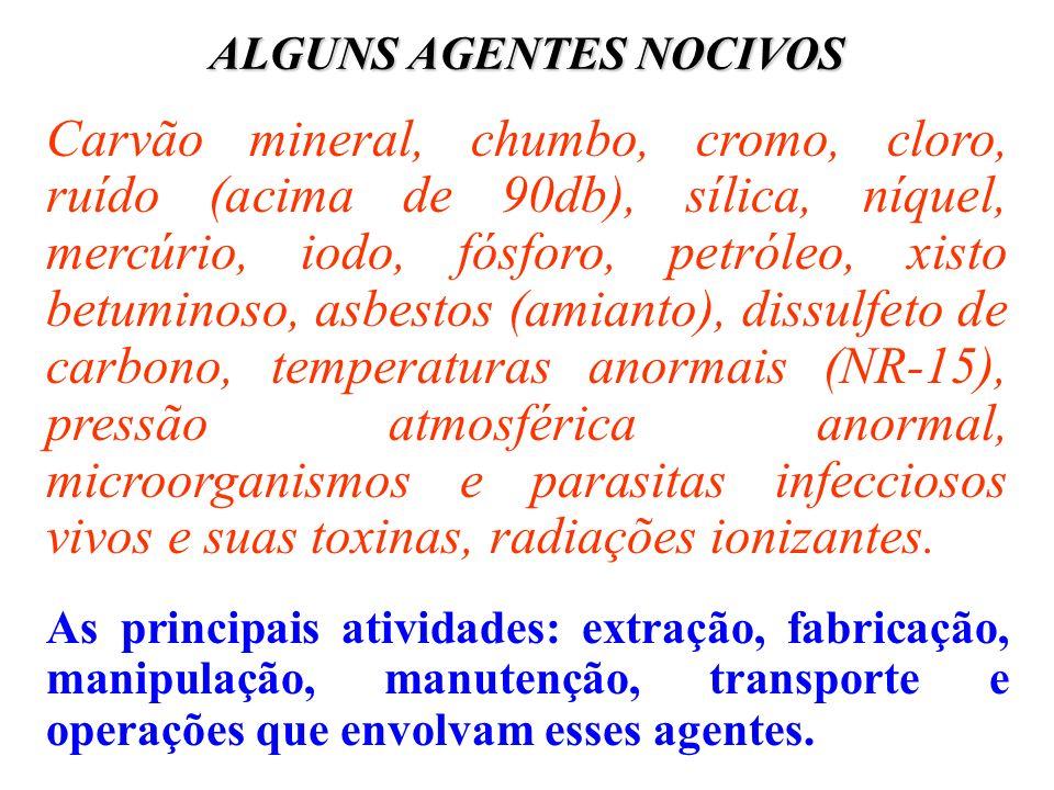ALGUNS AGENTES NOCIVOS