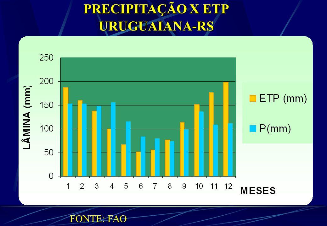 PRECIPITAÇÃO X ETP URUGUAIANA-RS