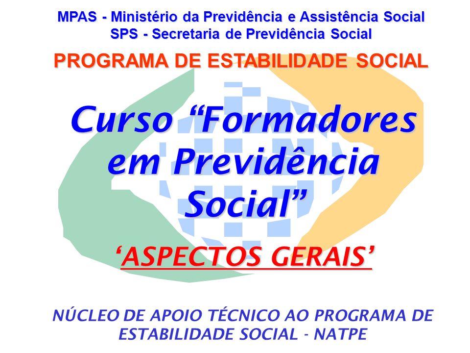 Curso Formadores em Previdência Social