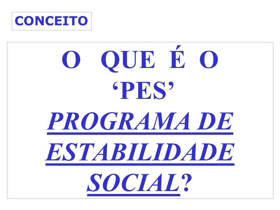 O QUE É O 'PES' PROGRAMA DE ESTABILIDADE SOCIAL