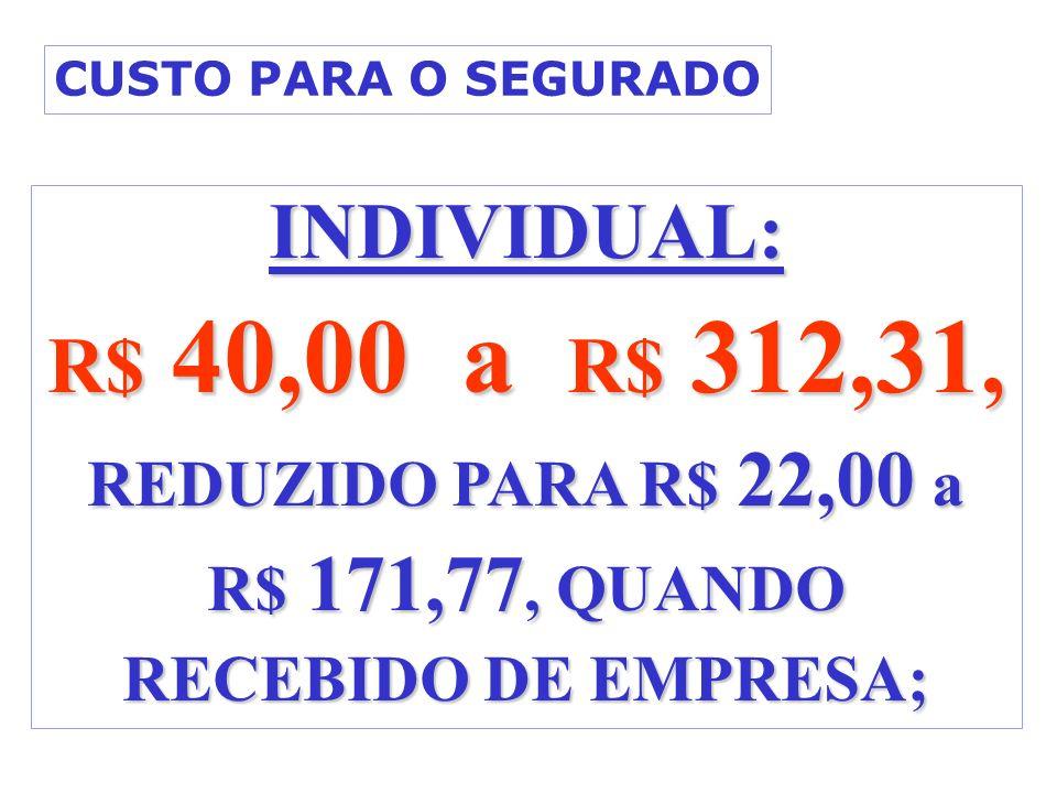 R$ 171,77, QUANDO RECEBIDO DE EMPRESA;