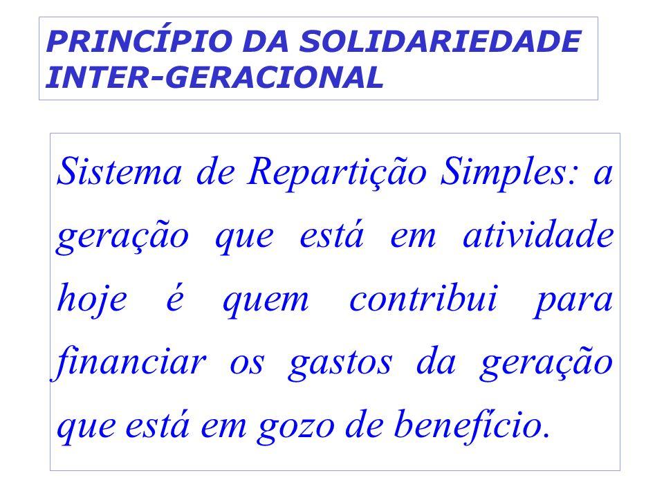 PRINCÍPIO DA SOLIDARIEDADE INTER-GERACIONAL