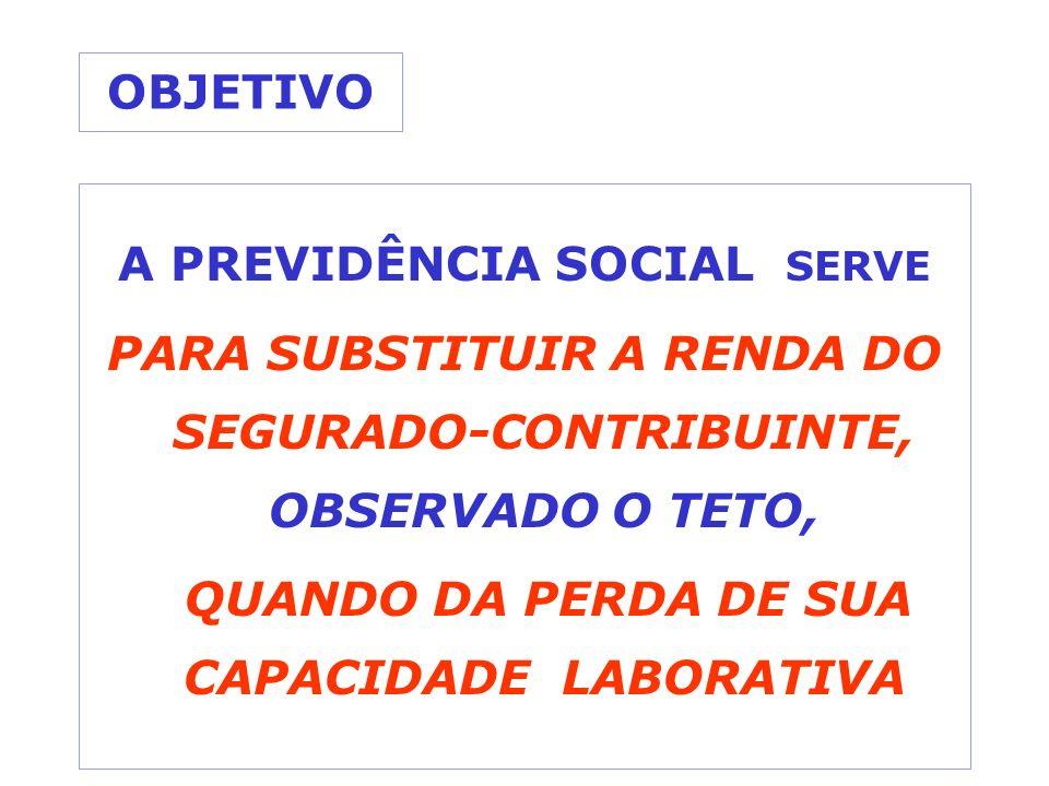 A PREVIDÊNCIA SOCIAL SERVE