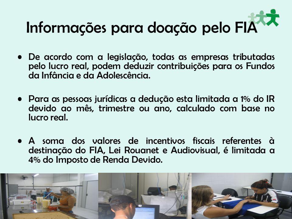 Informações para doação pelo FIA