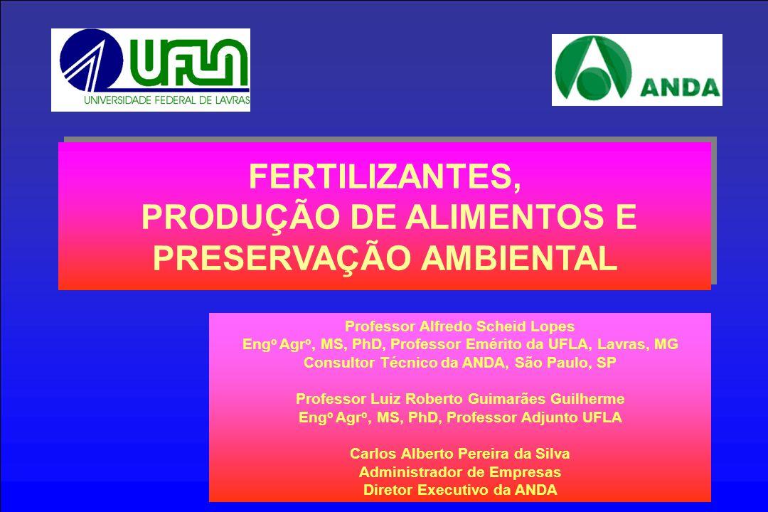 FERTILIZANTES, PRODUÇÃO DE ALIMENTOS E PRESERVAÇÃO AMBIENTAL
