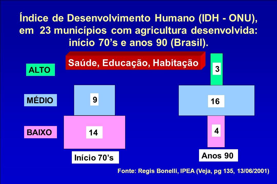 Índice de Desenvolvimento Humano (IDH - ONU),