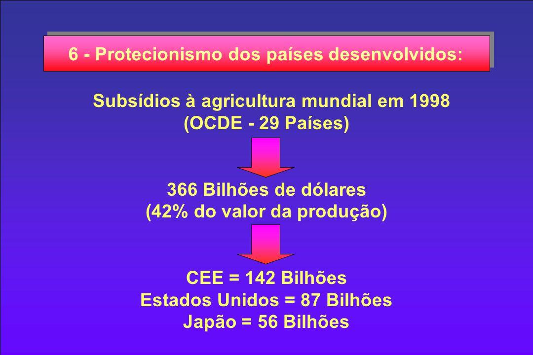 6 - Protecionismo dos países desenvolvidos: