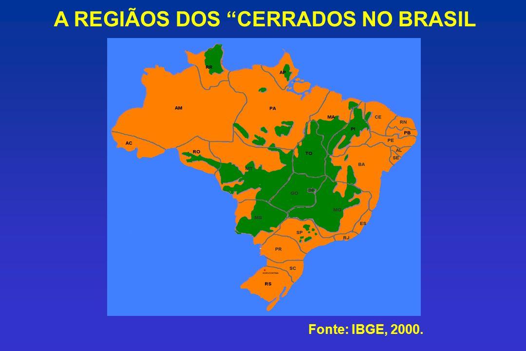 A REGIÃOS DOS CERRADOS NO BRASIL