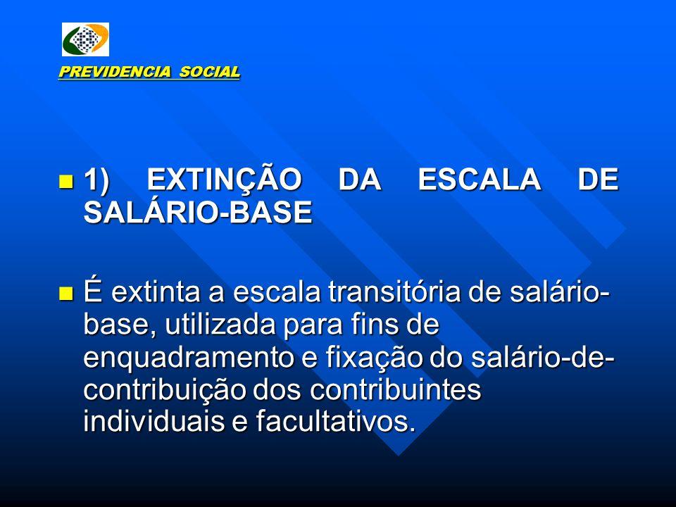 1) EXTINÇÃO DA ESCALA DE SALÁRIO-BASE