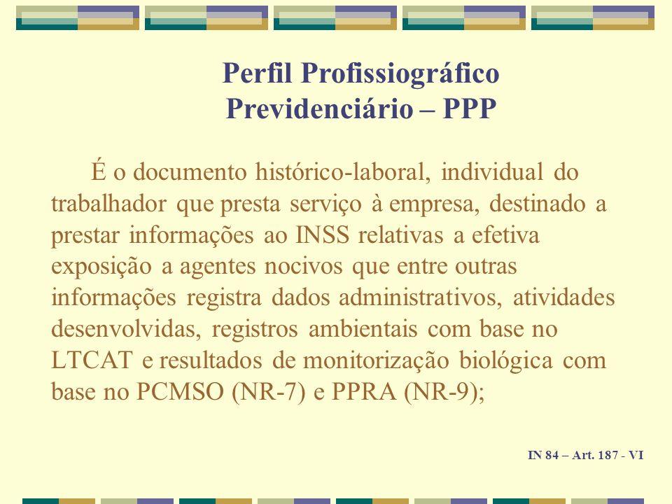 Perfil Profissiográfico Previdenciário – PPP