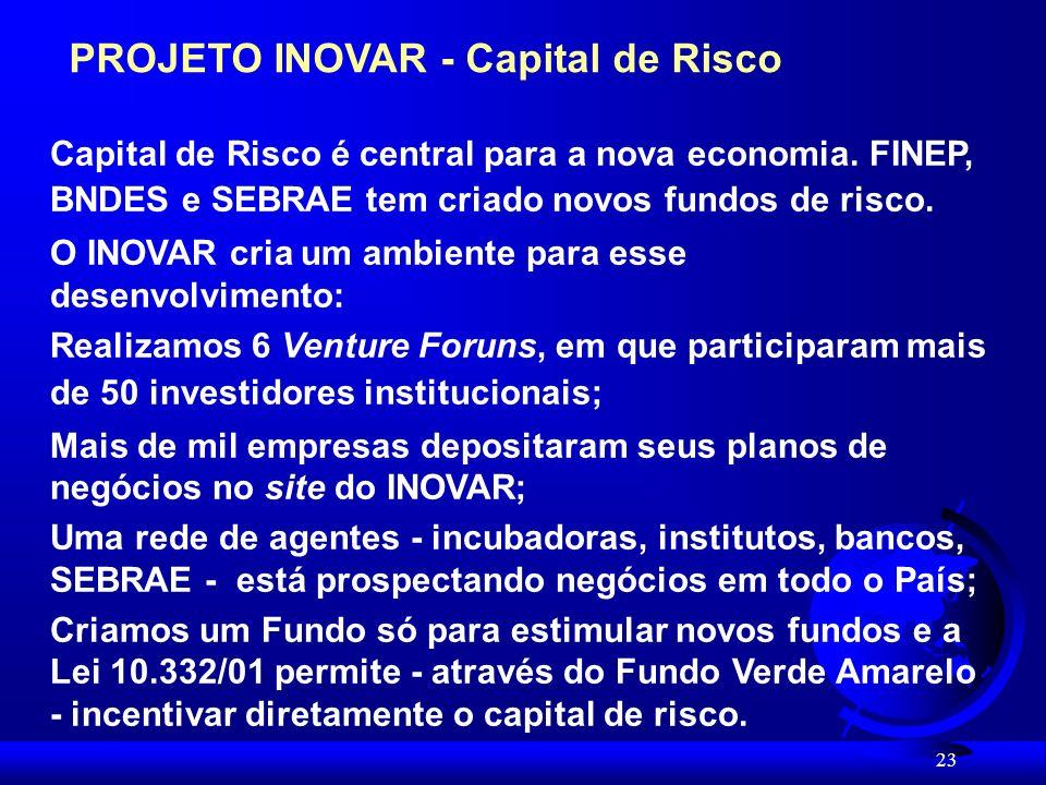 PROJETO INOVAR - Capital de Risco
