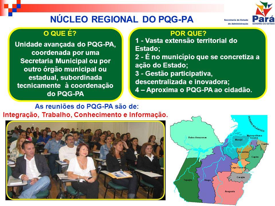 NÚCLEO REGIONAL DO PQG-PA