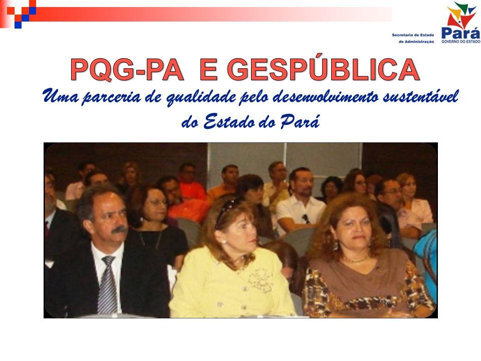 PQG-PA E GESPÚBLICA Uma parceria de qualidade pelo desenvolvimento sustentável do Estado do Pará