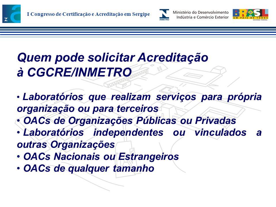 Quem pode solicitar Acreditação à CGCRE/INMETRO