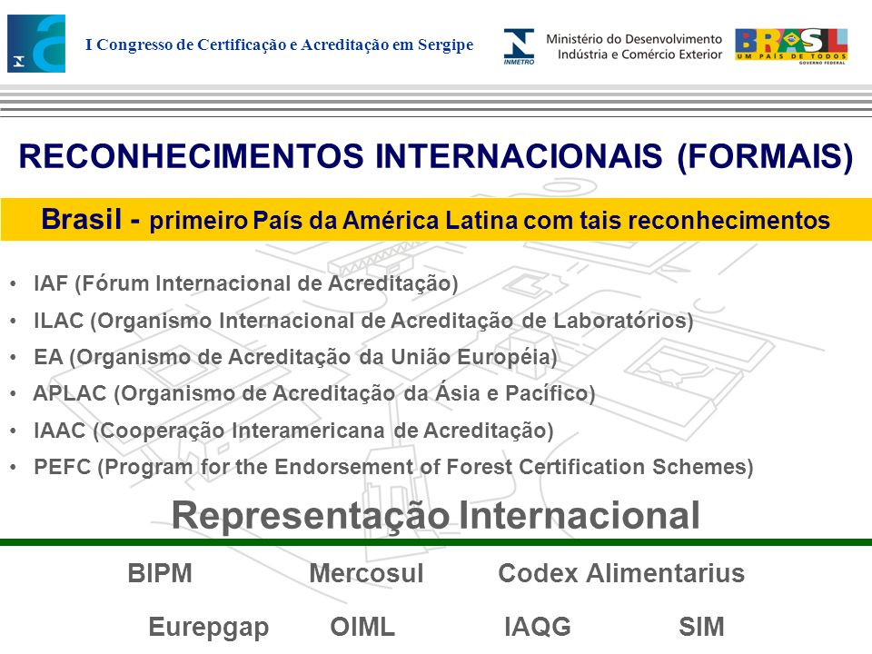 Representação Internacional