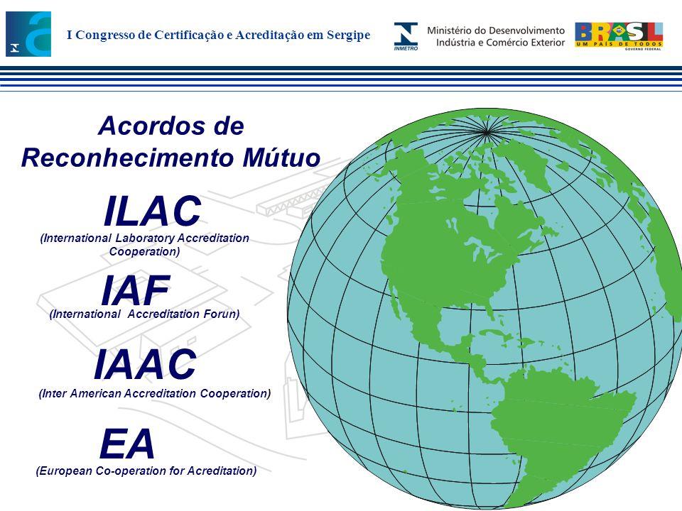 ILAC IAF IAAC EA Acordos de Reconhecimento Mútuo