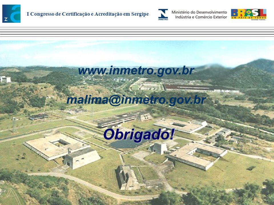www.inmetro.gov.br malima@inmetro.gov.br Obrigado!