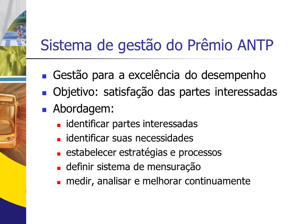 Sistema de gestão do Prêmio ANTP