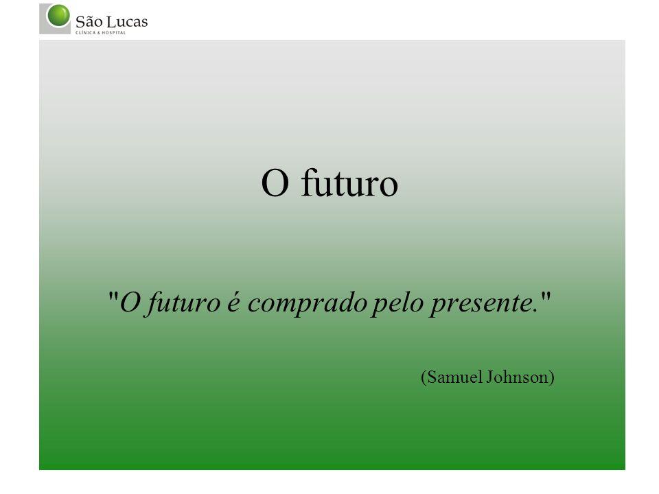 O futuro é comprado pelo presente. (Samuel Johnson)