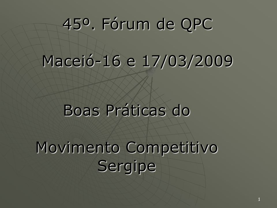 Boas Práticas do Movimento Competitivo Sergipe