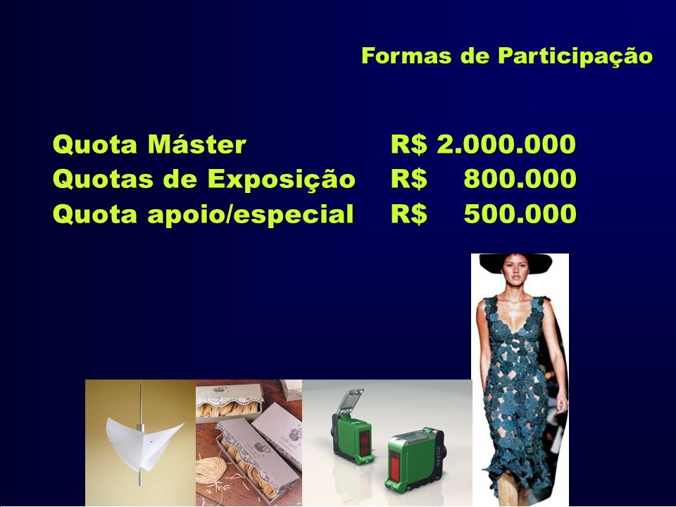 Quota apoio/especial R$ 500.000