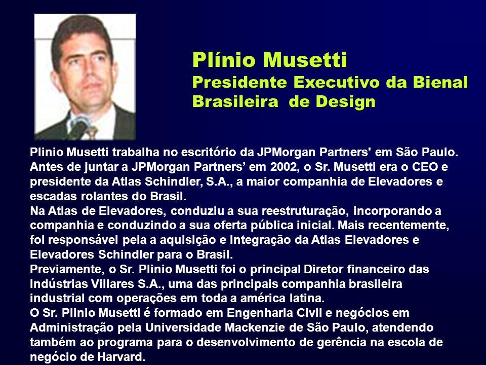 Plínio Musetti Presidente Executivo da Bienal Brasileira de Design