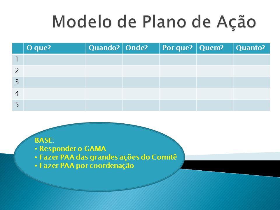 Modelo de Plano de Ação O que Quando Onde Por que Quem Quanto 1