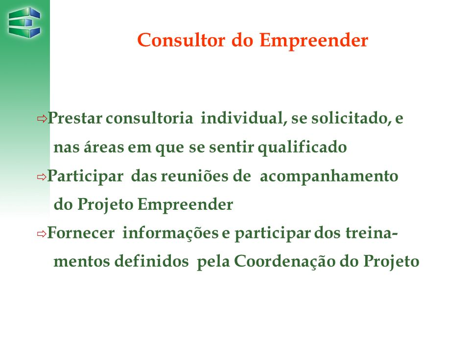 Consultor do Empreender